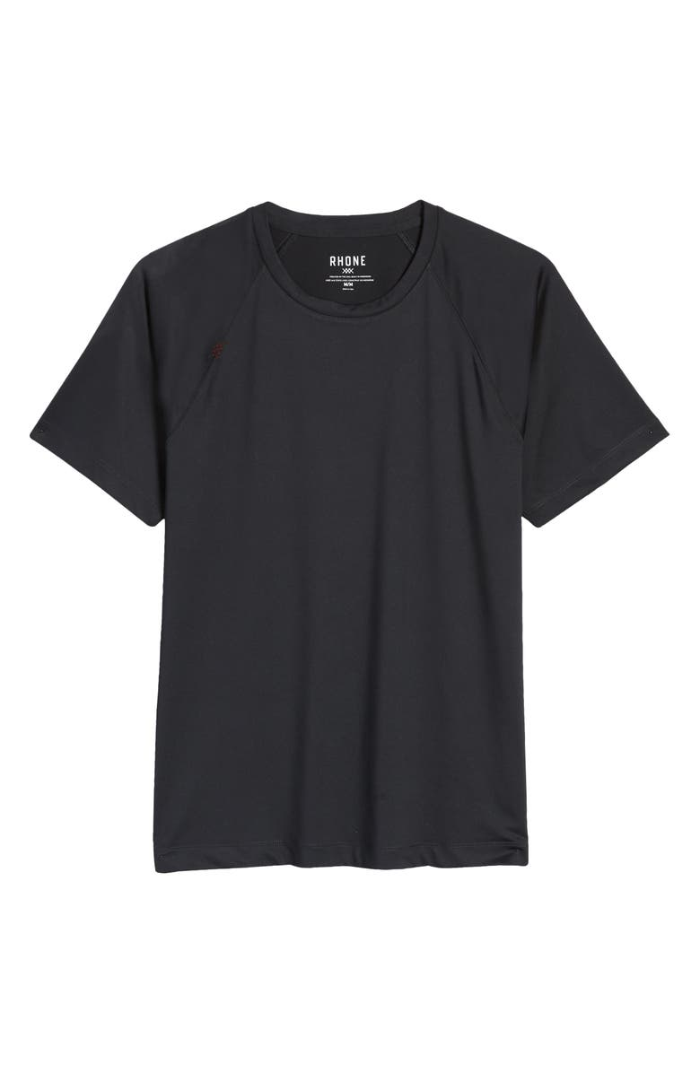 RHONE Reign Performance T-Shirt, Main, color, BLACK