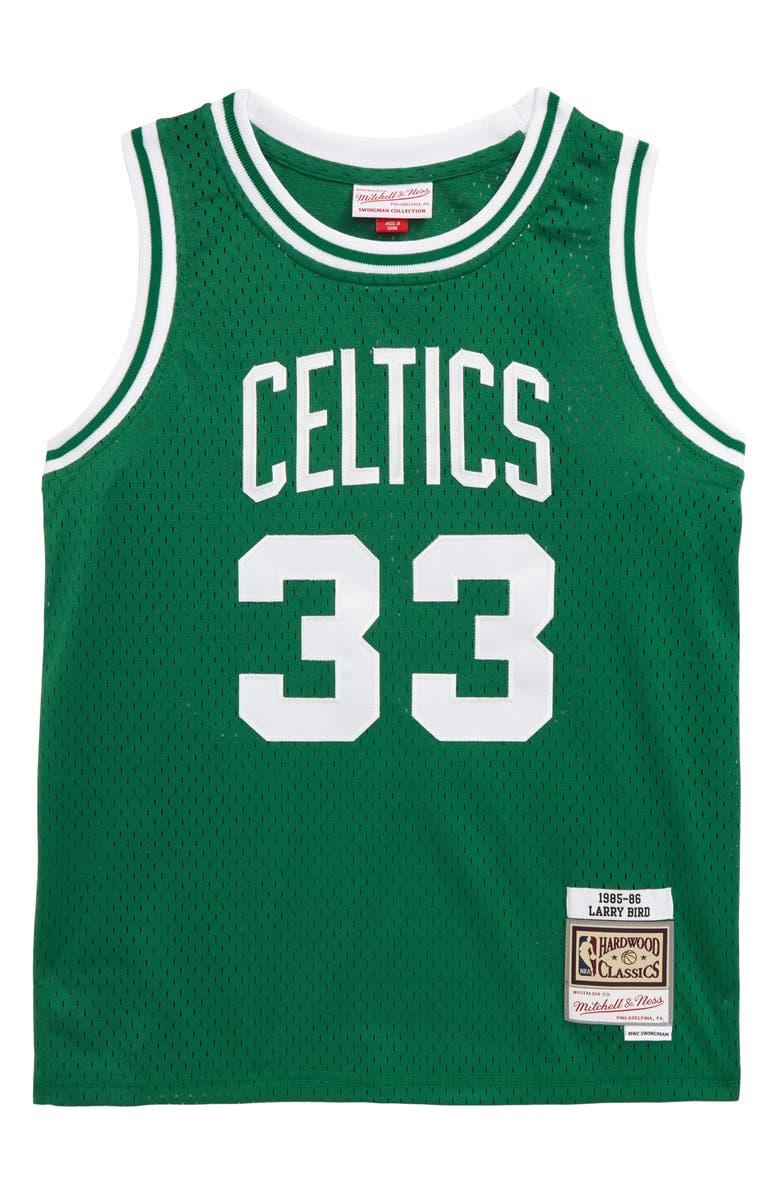 MITCHELL & NESS Swingman Boston Celtics Larry Bird Basketball Jersey, Main, color, GREEN