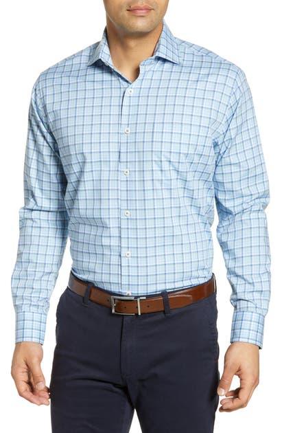 Peter Millar T-shirts ALBERT RIVER REGULAR FIT WINDOWPANE BUTTON-UP SPORT SHIRT