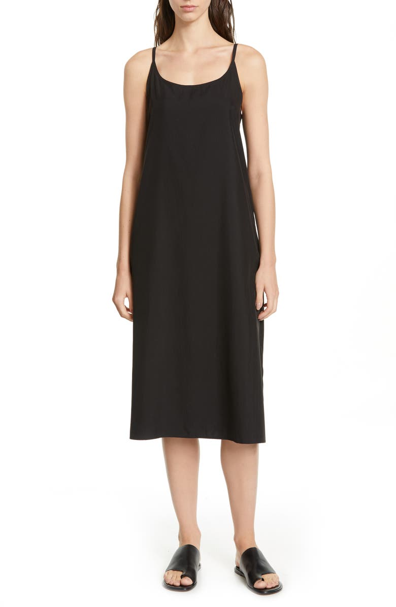 EILEEN FISHER Cami Midi Dress, Main, color, 001