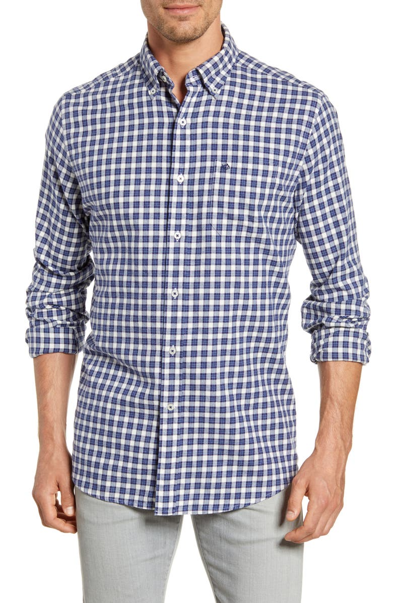 SOUTHERN TIDE Cutwater Regular Fit Check Button-Down Shirt, Main, color, MADRAS BLUE