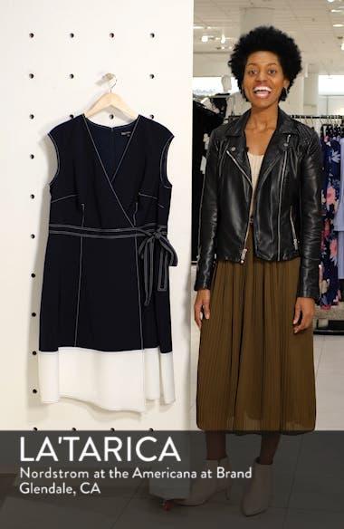Colorblock Faux Wrap Dress, sales video thumbnail
