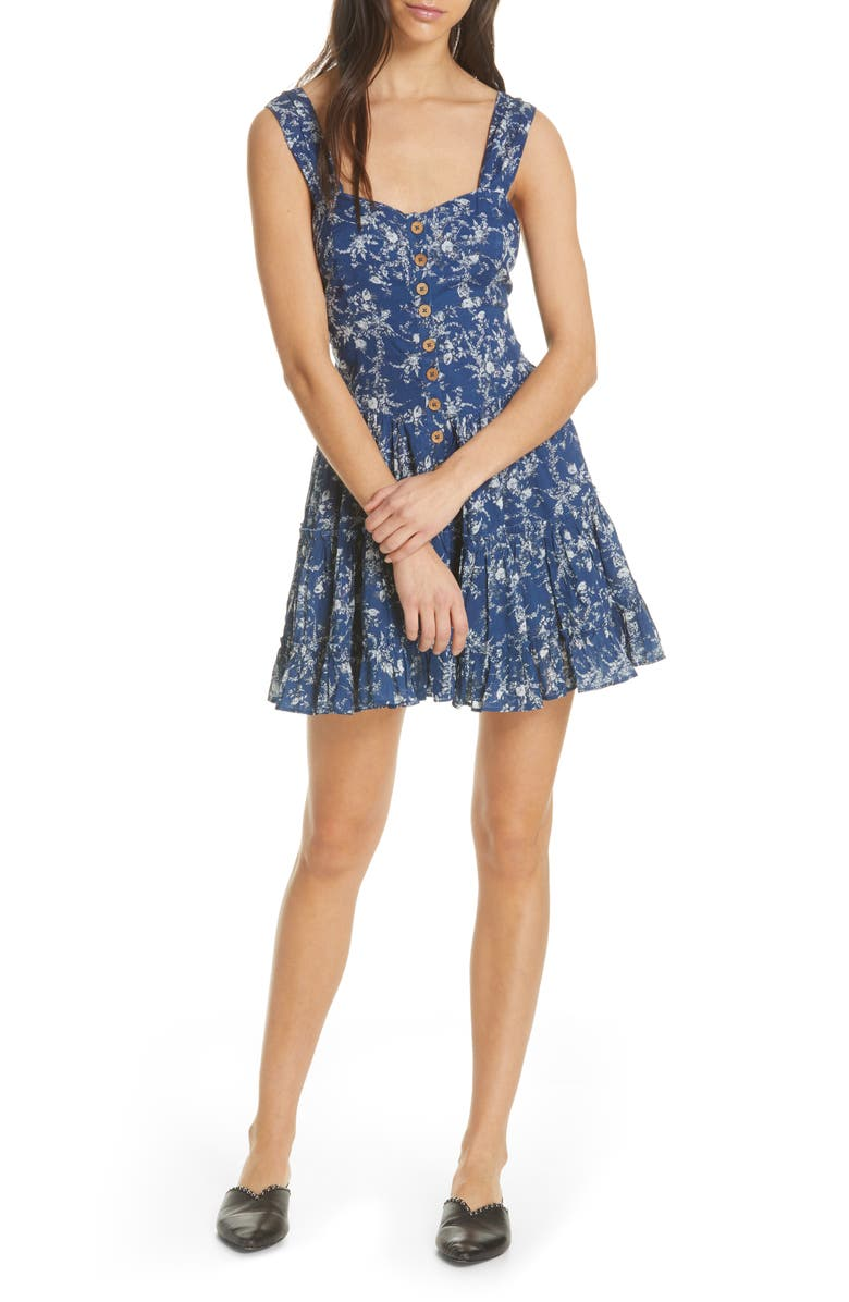 FREE PEOPLE Dance on the Blacktop Minidress, Main, color, 400