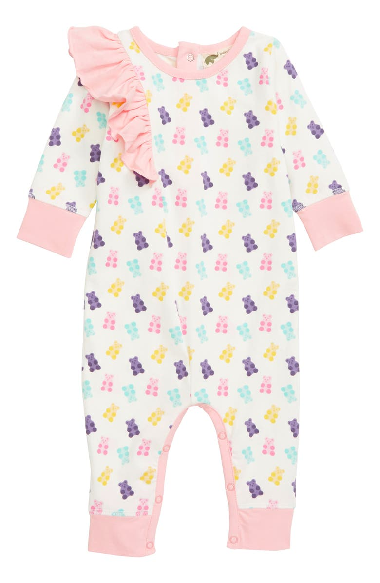 MONICA + ANDY Ruffle Romper, Main, color, PINK