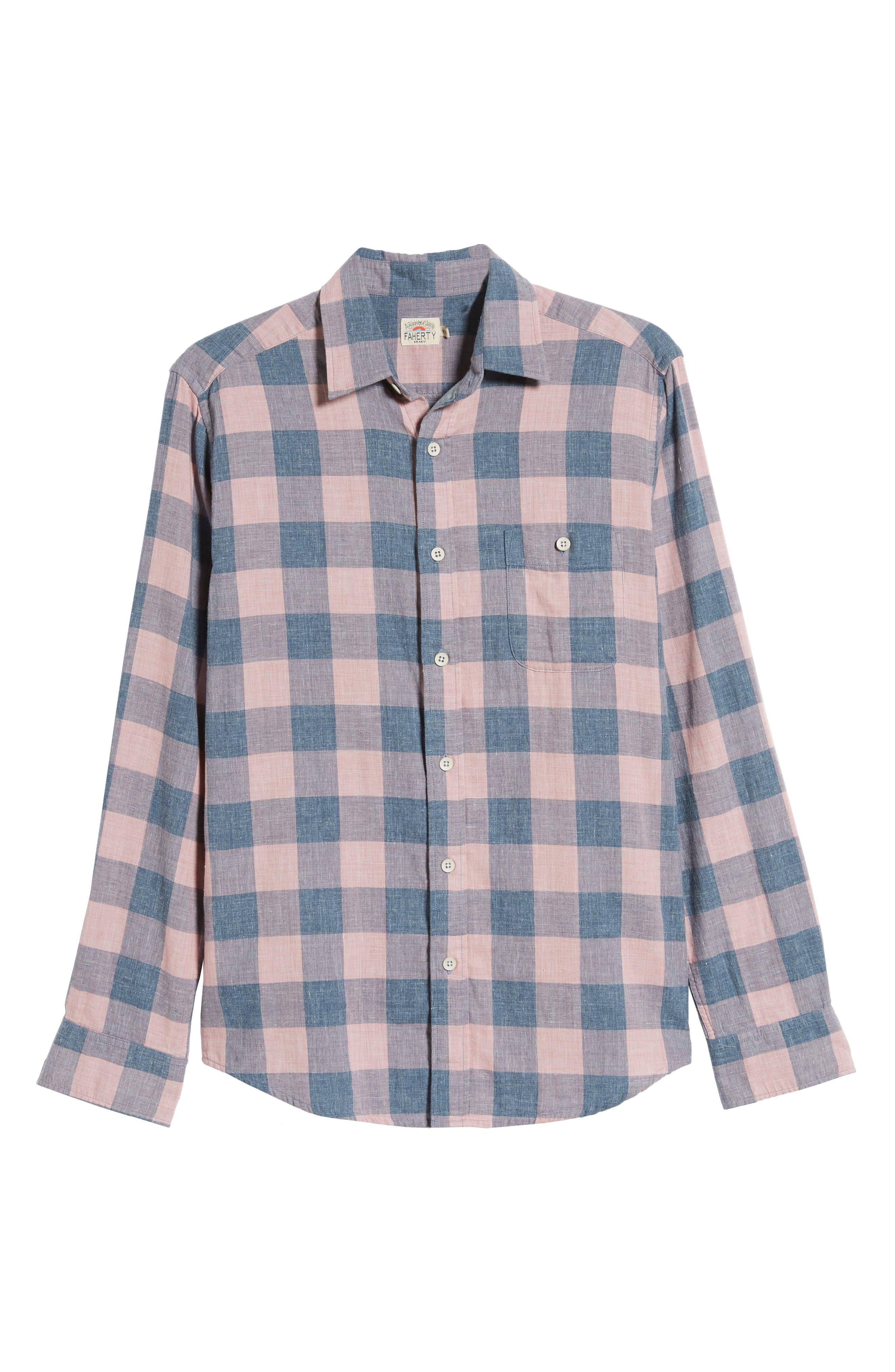 Faherty T-shirts Seaview Buffalo Check Doublecloth Shirt
