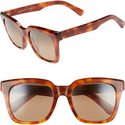 Maui Jim Heliconia 5m Polarizedplus2 Square Sunglasses - Koa Tortoise/ Bronze