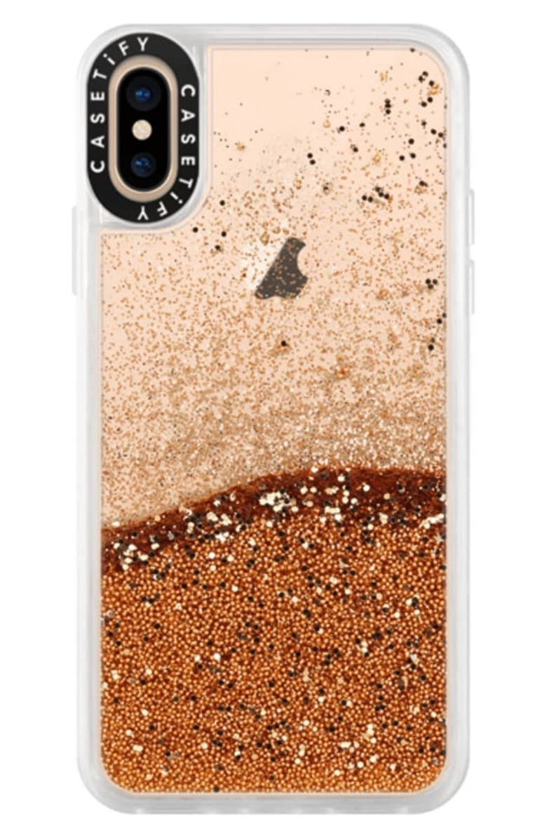 CASETIFY Classic Grip iPhone X/Xs, Xs Max & XR Case, Main, color, GOLD