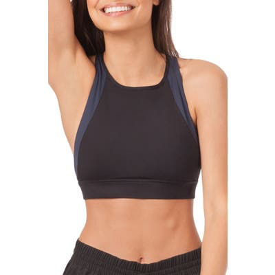 Lively The Active High Neck Cross Back Sports Bralette, Blue