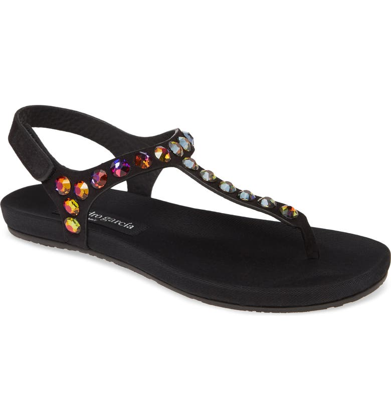 PEDRO GARCIA 'Judith' Sandal, Main, color, BLACK/ MULTI