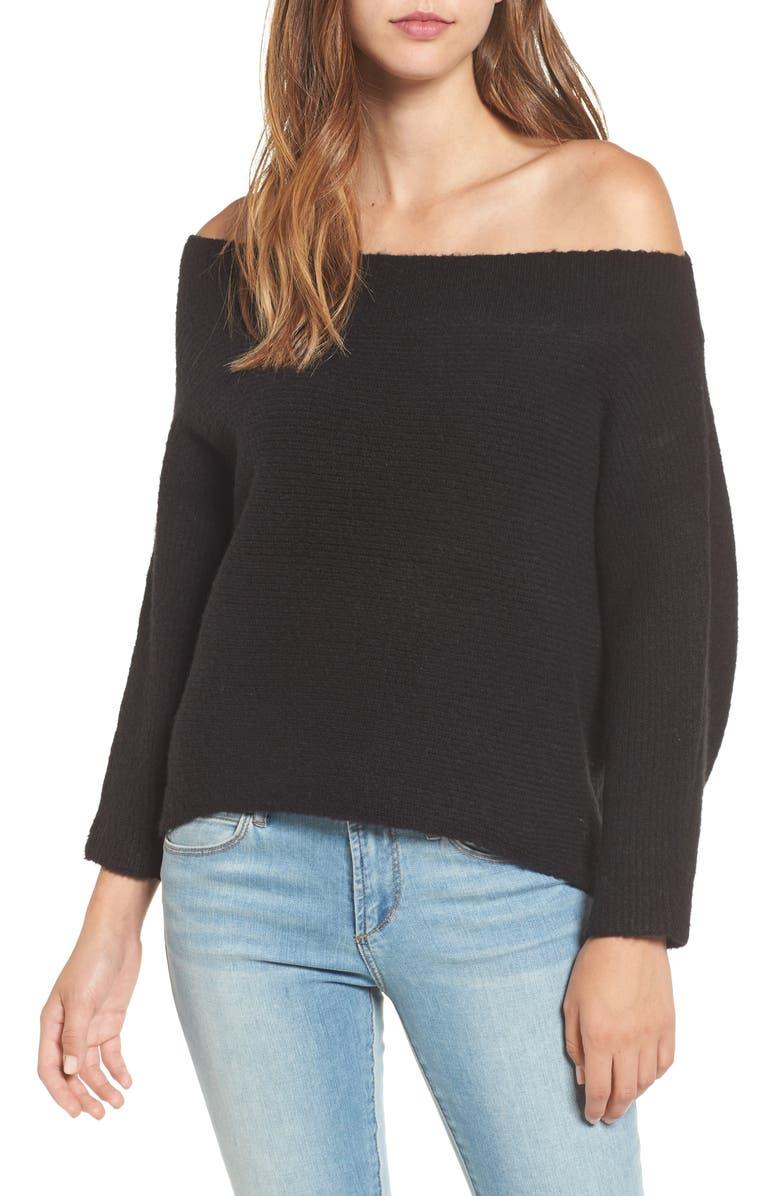 LEITH Dolman Sleeve Sweater, Main, color, 001