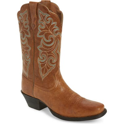 Ariat Roundup Western Boot- Brown