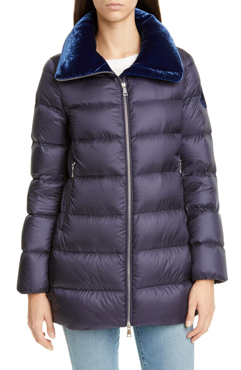 MONCLER Torcon Velvet Collar Down Puffer Coat, Main, color, 460