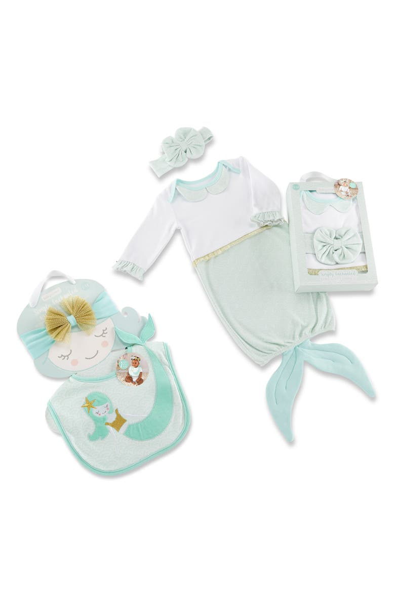 Baby Aspen Simply Enchanted Mermaid 4 Piece Gift Set Baby Girls