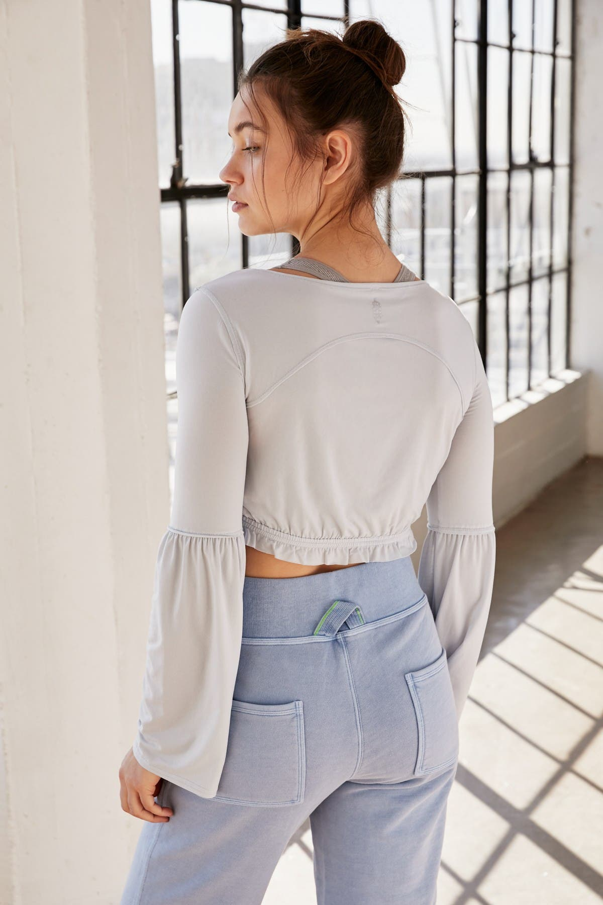 Free People FP Movement Movin' On Up Bell Sleeve Layering Crop Top