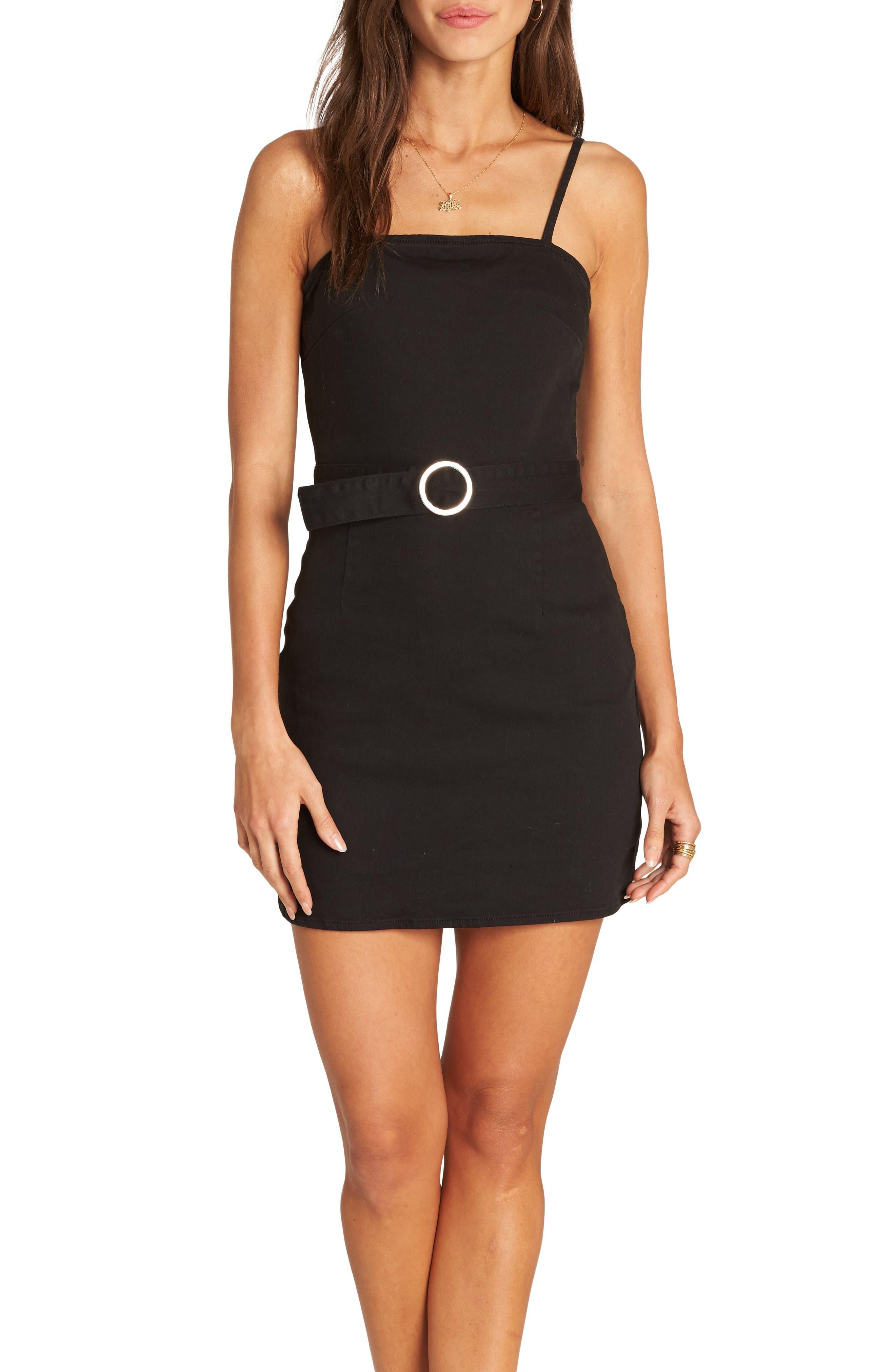 Billabong So Good Belted Minidress, Black