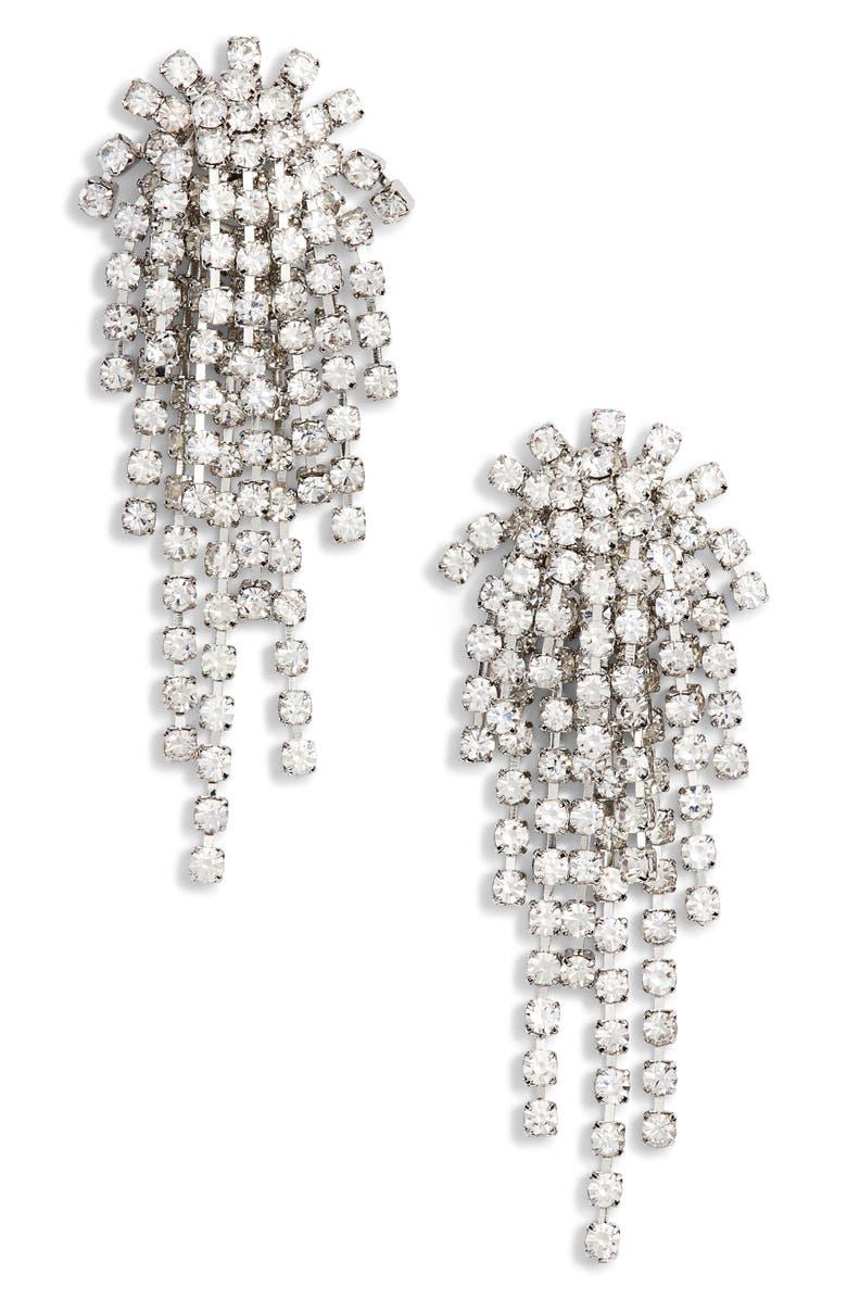 CRISTABELLE Rhinestone Cluster Earrings, Main, color, 045