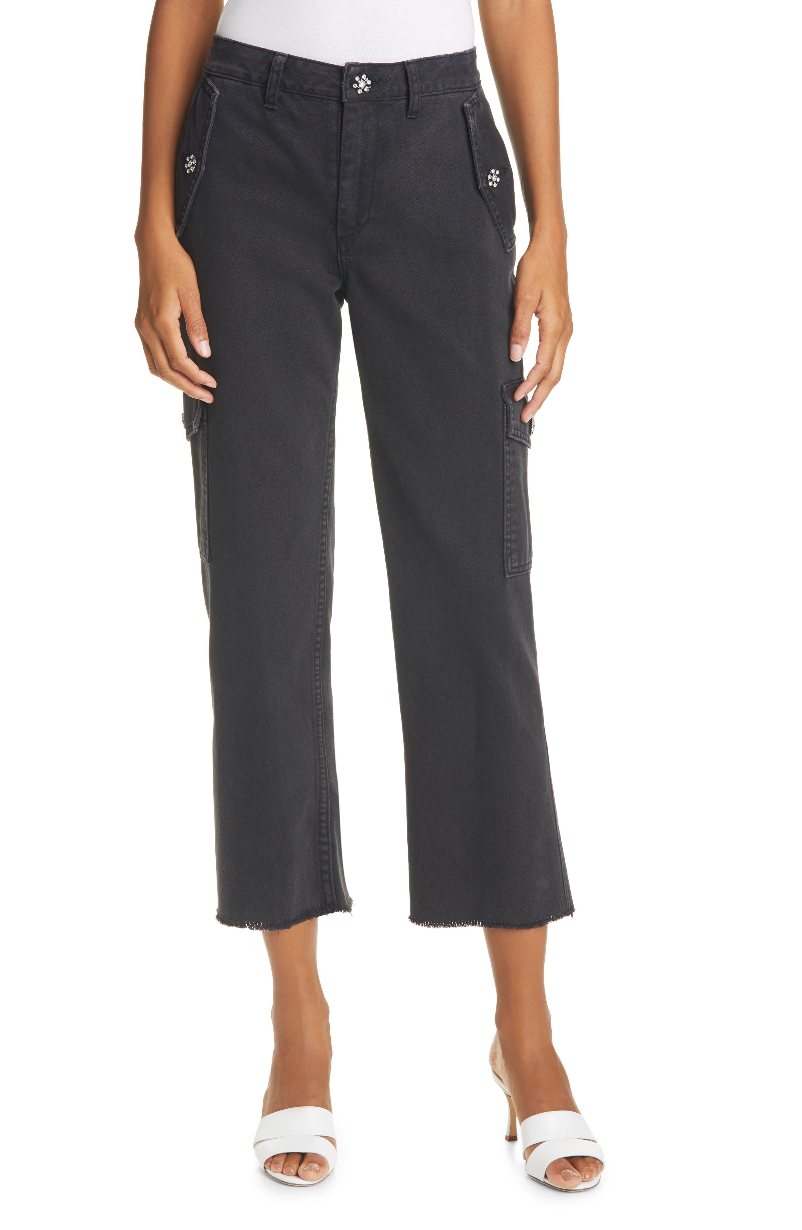 Embellished Crop Jeans