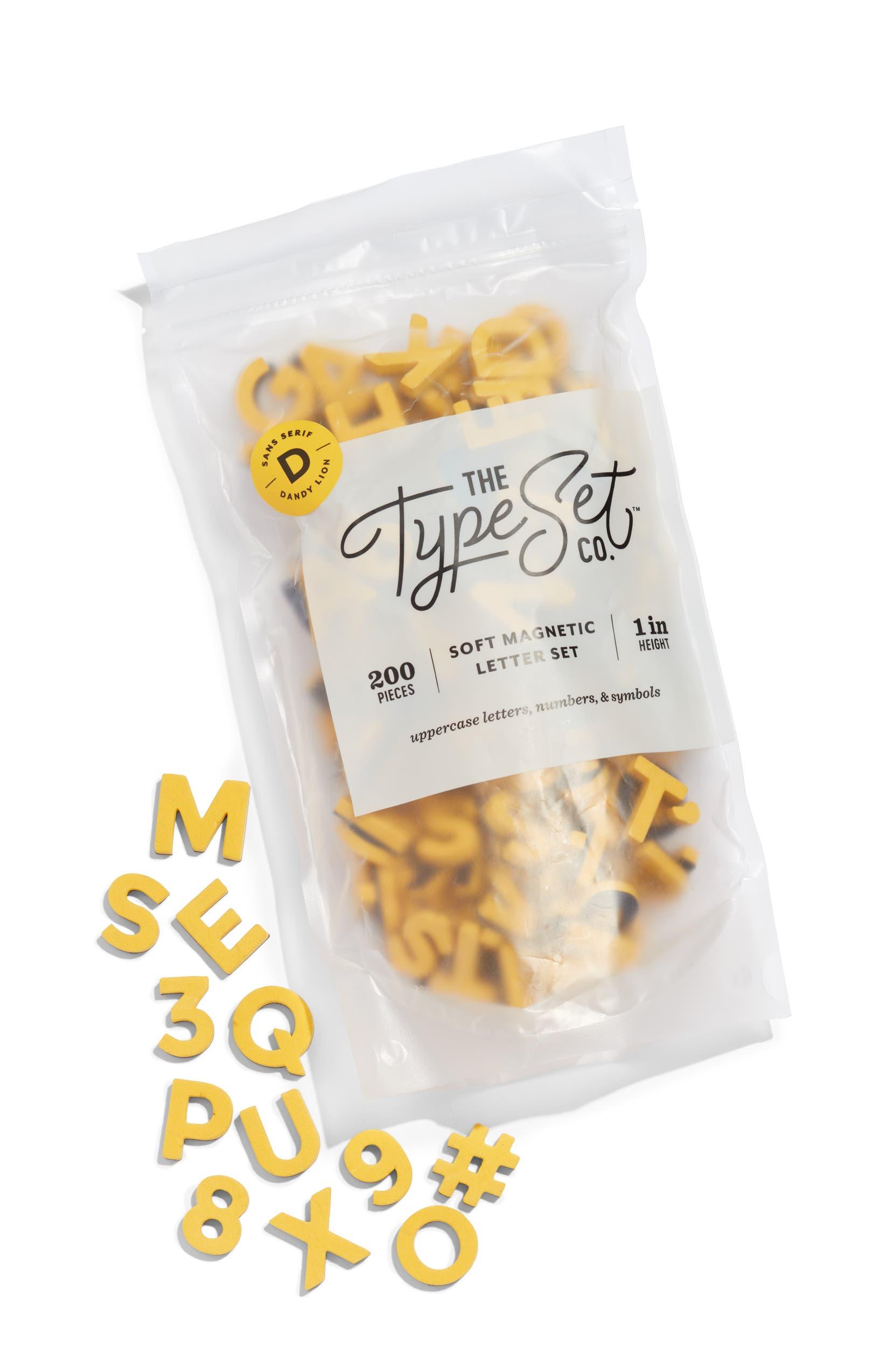 Sans Serif Soft Magnetic Letters