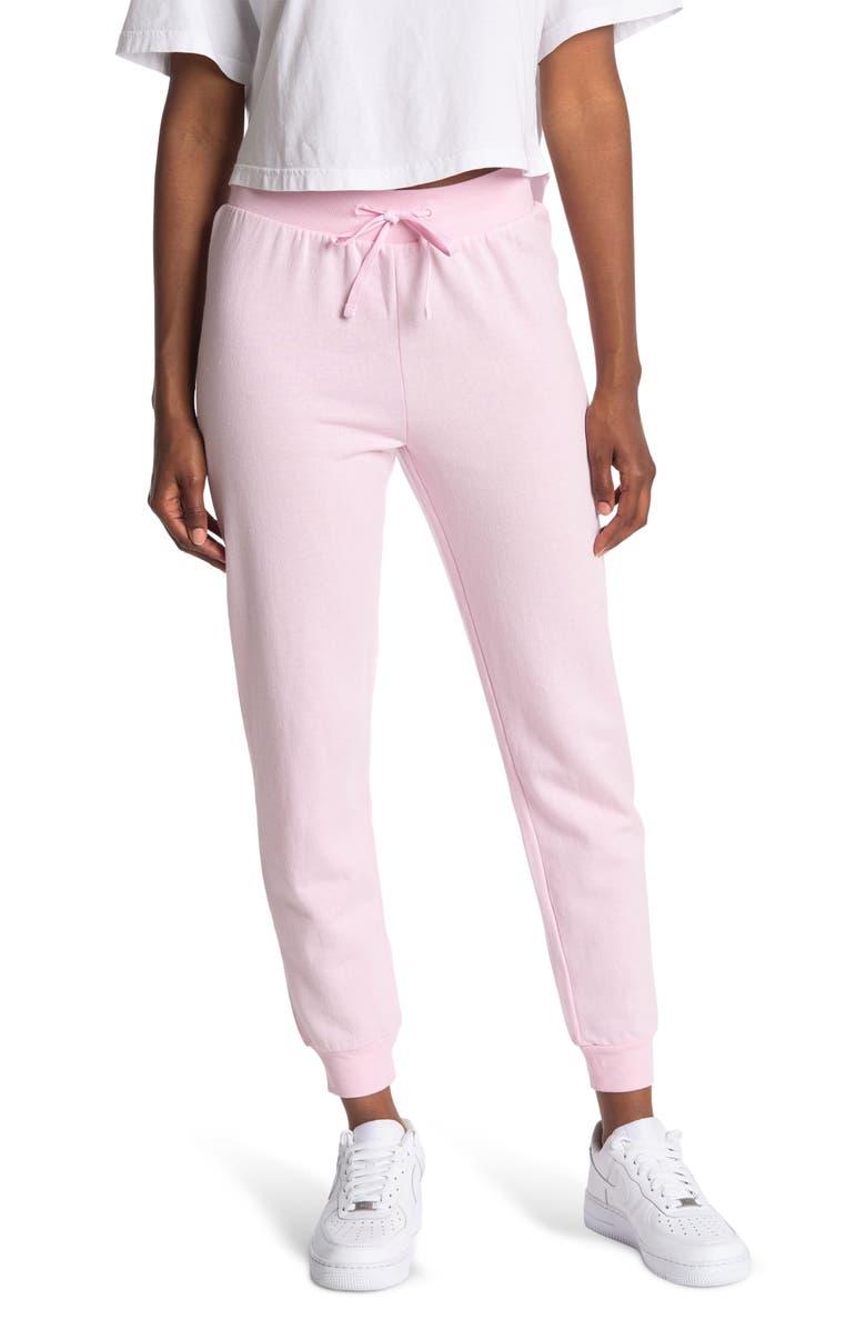 ABOUND Fleece Drawstring Jogger Pants, Main, color, PINK OPAL