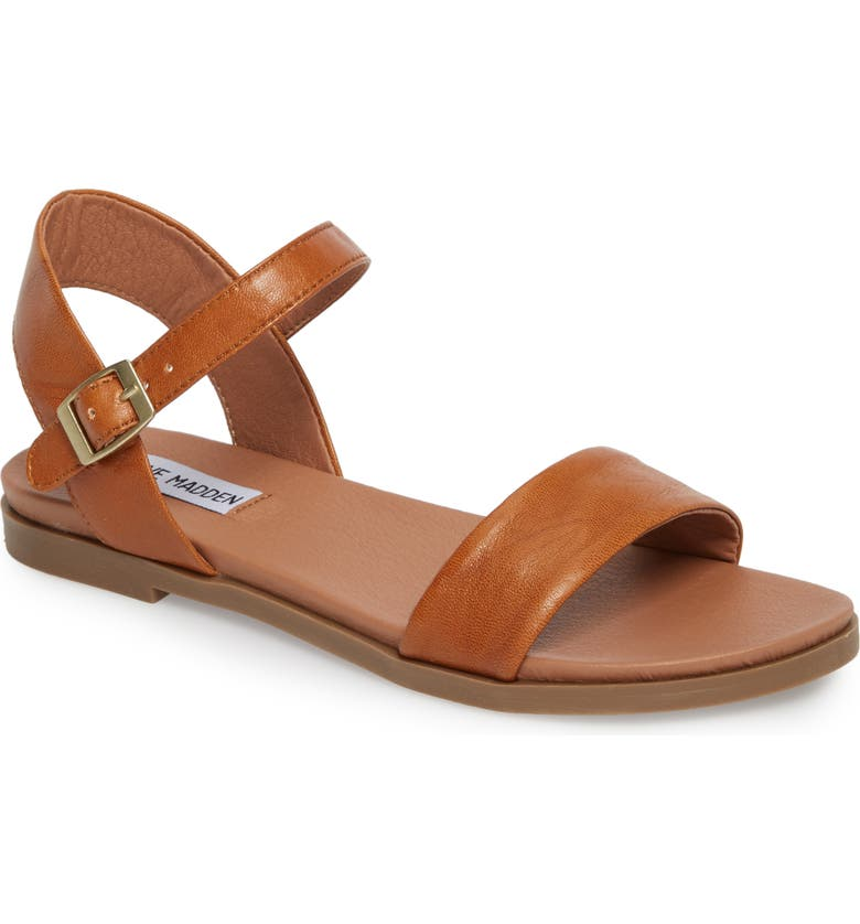 STEVE MADDEN Dina Sandal, Main, color, TAN LEATHER