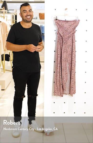 Ria Pink Leopard Strapless Midi Dress, sales video thumbnail