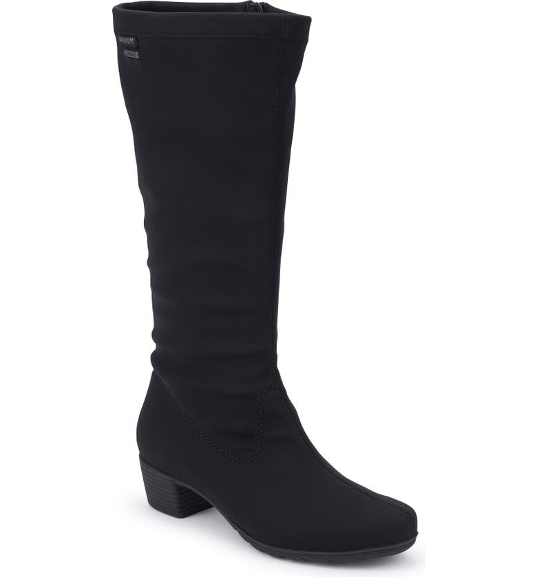 MEPHISTO Issa Gore-Tex<sup>®</sup> Tall Boot, Main, color, BLACK FABRIC