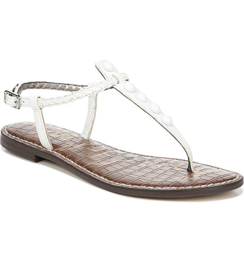 SAM EDELMAN 'Gigi' Sandal, Main, color, BRIGHT WHITE