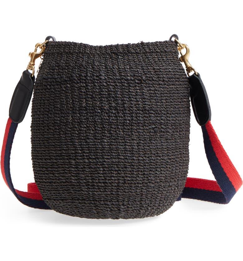 CLARE V. Pot de Miel Top Handle Straw Basket Bag, Main, color, 001
