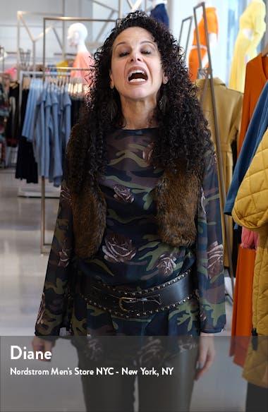 Clip Dot Ruffle Sleeve Fit & Flare Dress, sales video thumbnail
