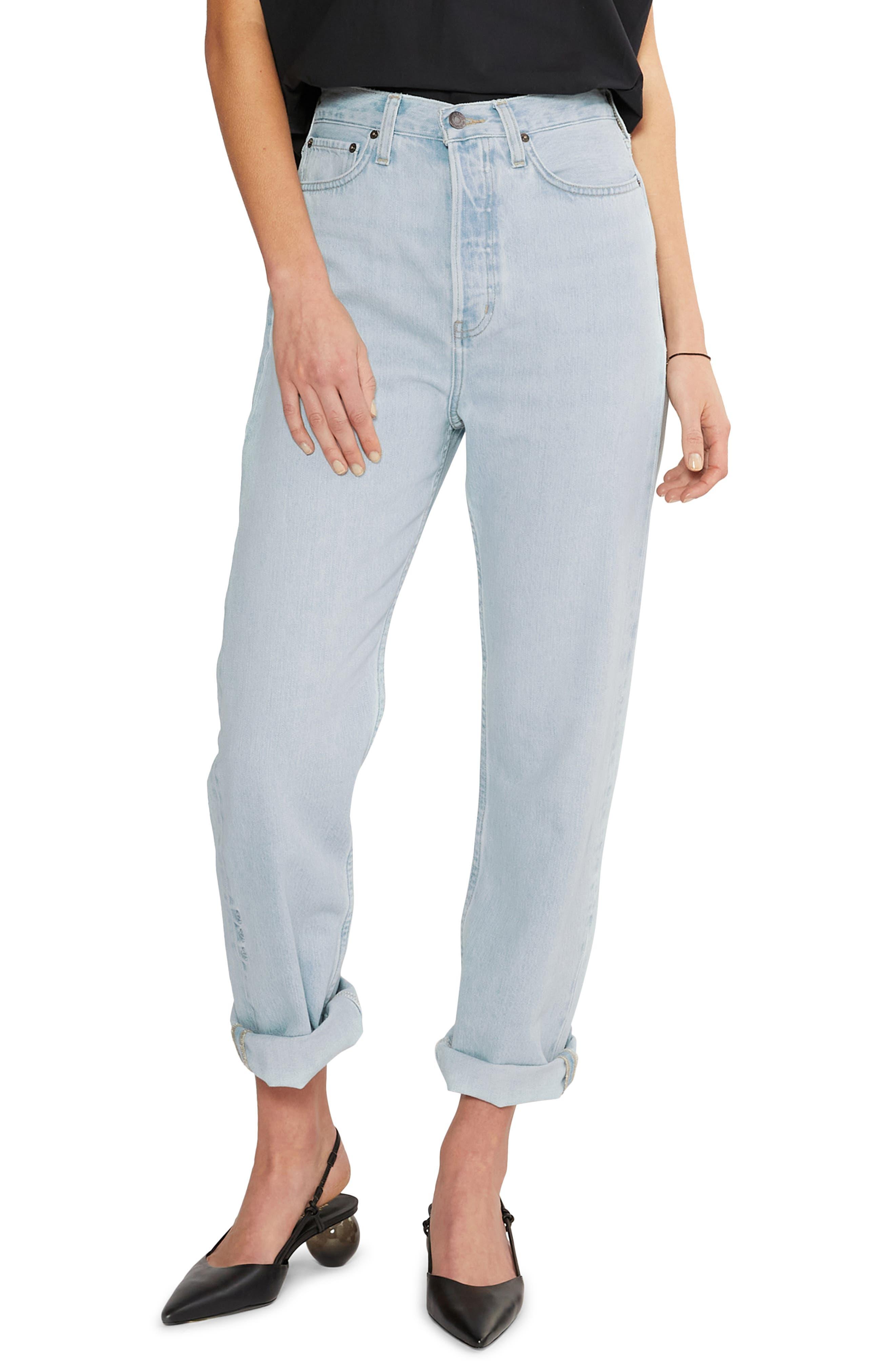 Women's Etica Bryce Pinch Waist Boyfriend Jeans