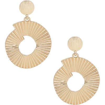 Ettika Textured Drop Earrings
