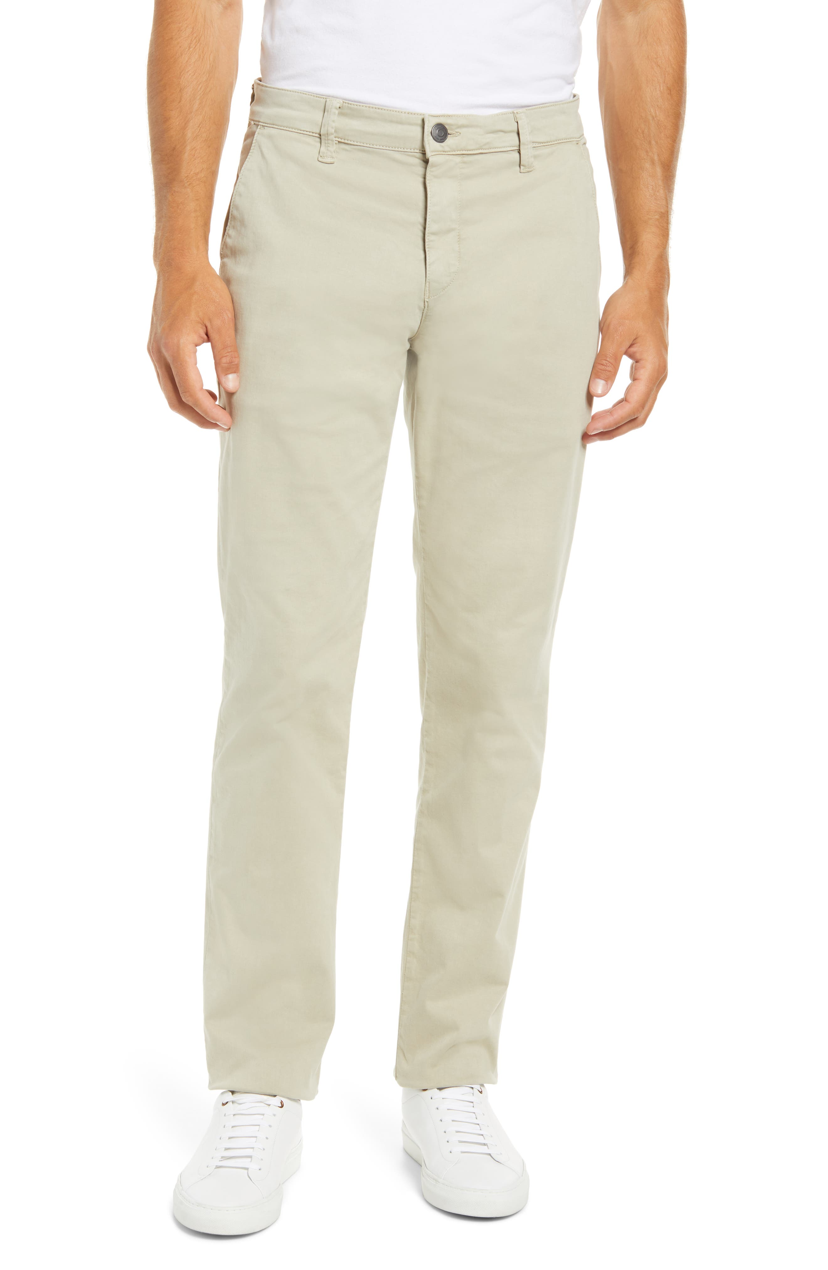 A neutral hue brings wardrobe-spanning versatility to slim-fitting chinos cut from stretch cotton twill that\\\'s been brushed for a soft, broken-in feel. Style Name: Mavi Jeans Edward Slim Straight Leg Chinos. Style Number: 6109170. Available in stores.