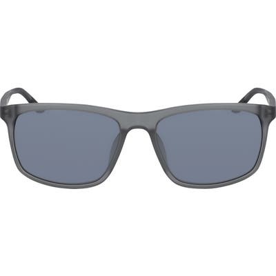 Nike Lore Square Sunglasses - Mt Dk Grey/ Black/ Grey W Sil