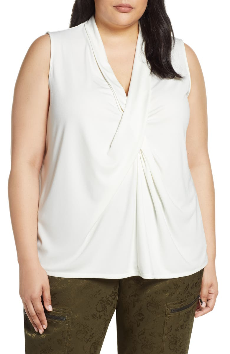 RACHEL ROY COLLECTION Draped Front Shell Tank, Main, color, 020