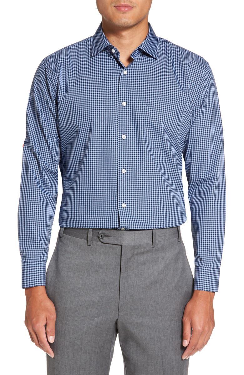 NORDSTROM MEN'S SHOP Smartcare<sup>™</sup> Trim Fit Check Dress Shirt, Main, color, 420