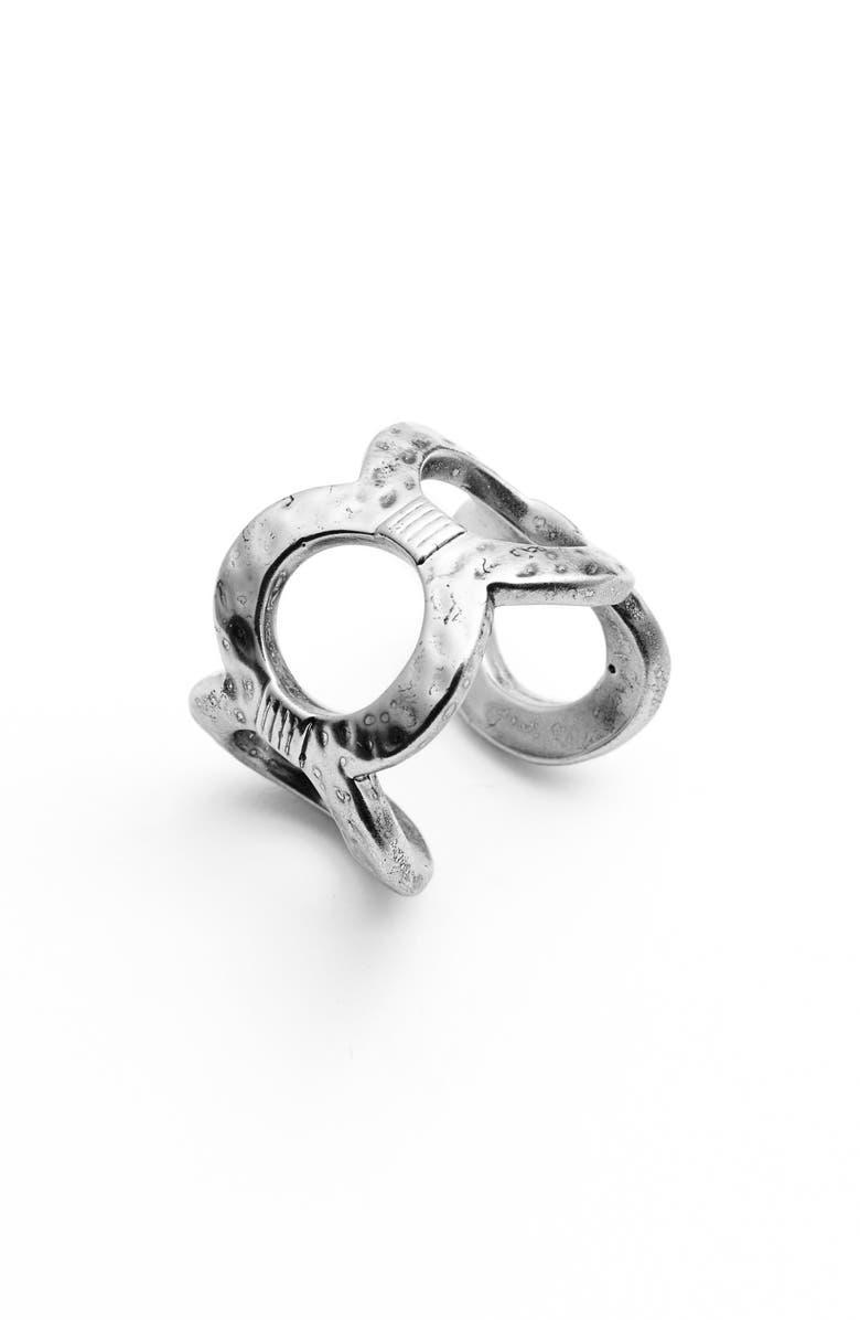 KARINE SULTAN Adjustable Circle Ring, Main, color, 040