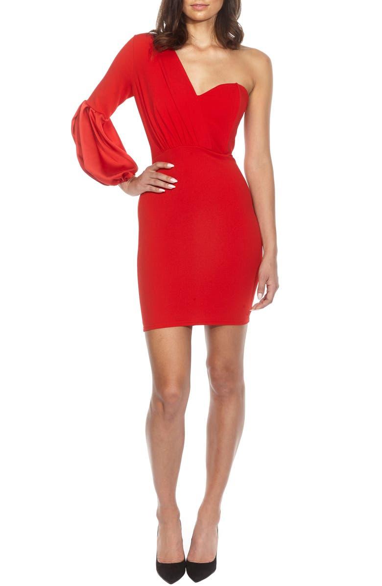 TFNC Naeva One-Shoulder Minidress, Main, color, 610