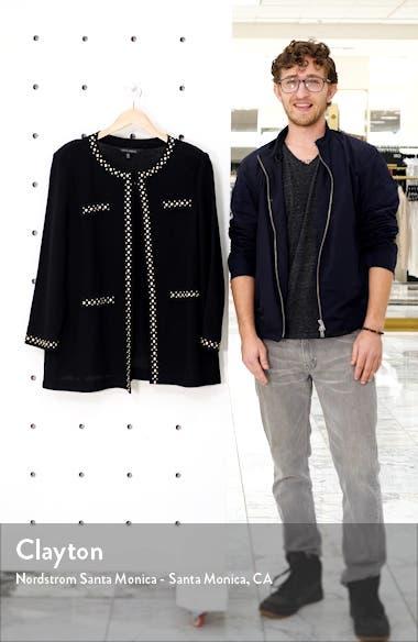 Studded Trim Knit Jacket, sales video thumbnail