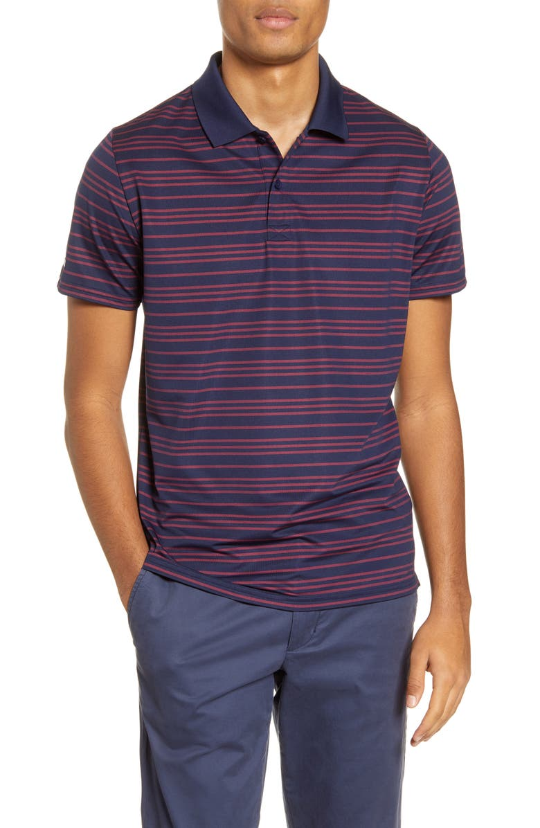 BONOBOS Slim Fit Stripe Performance Polo, Main, color, 400
