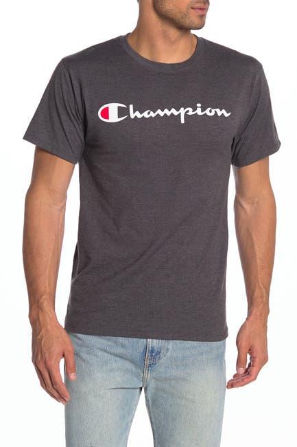 Image of Champion Classic Logo Print Short Sleeve T-Shirt