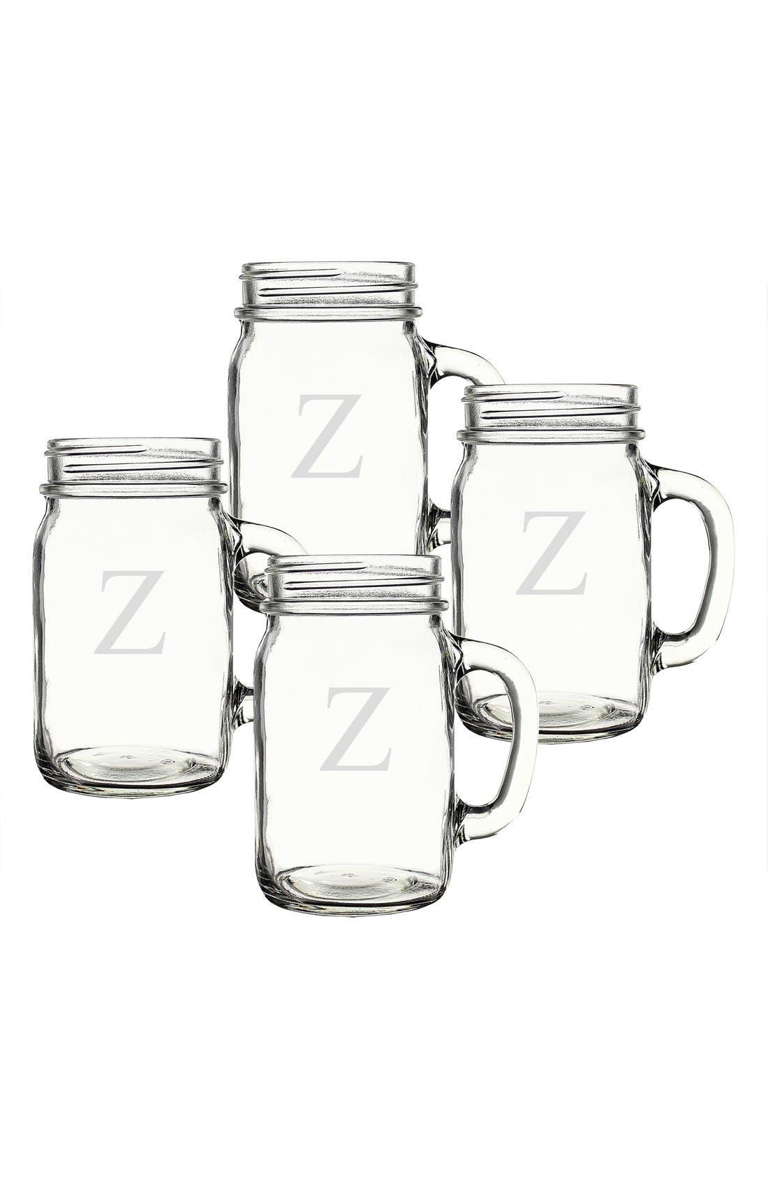 ,                             Monogram Glass Drinking Jars,                             Alternate thumbnail 83, color,                             985