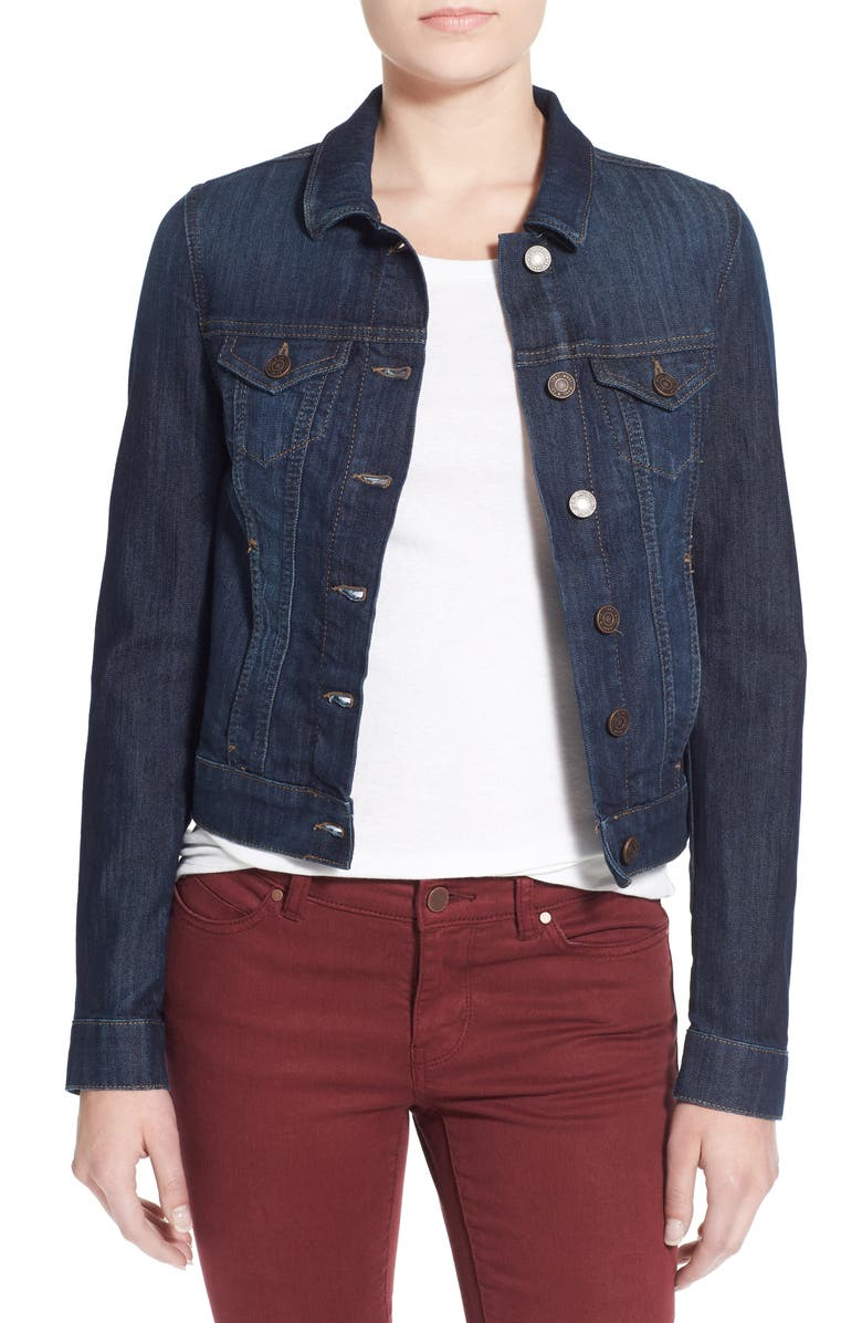 MAVI JEANS 'Samantha' Denim Jacket, Main, color, DARK NOLITA
