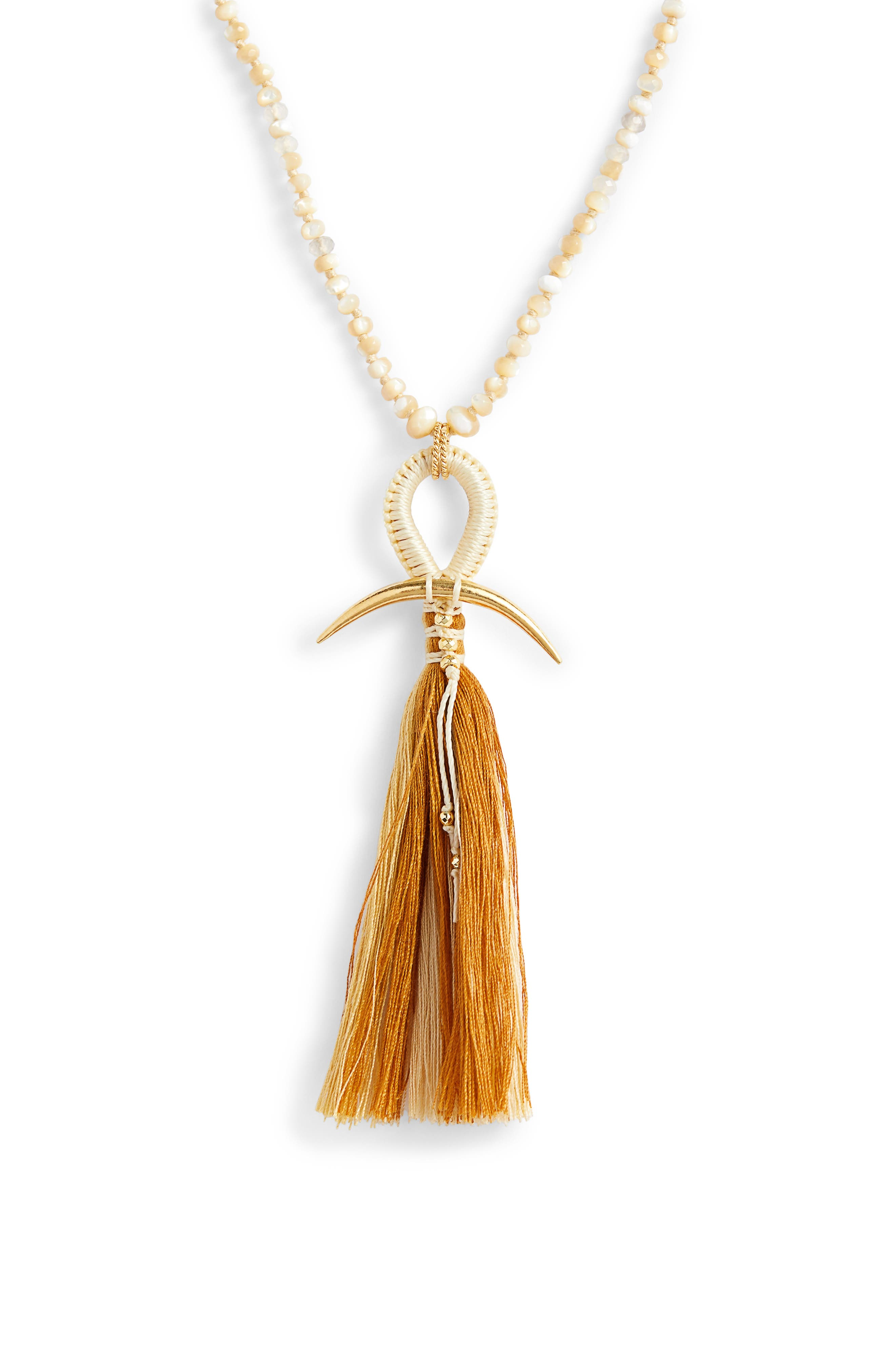 ,                             Horn & Tassel Layering Necklace,                             Alternate thumbnail 2, color,                             200