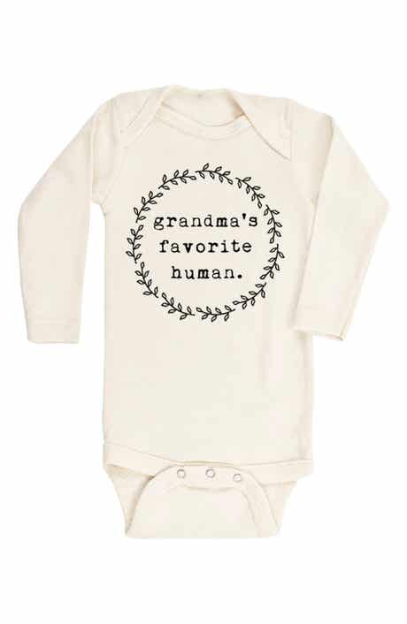 Tenth & Pine Grandma's Favorite Human Organic Cotton Bodysuit (Baby)