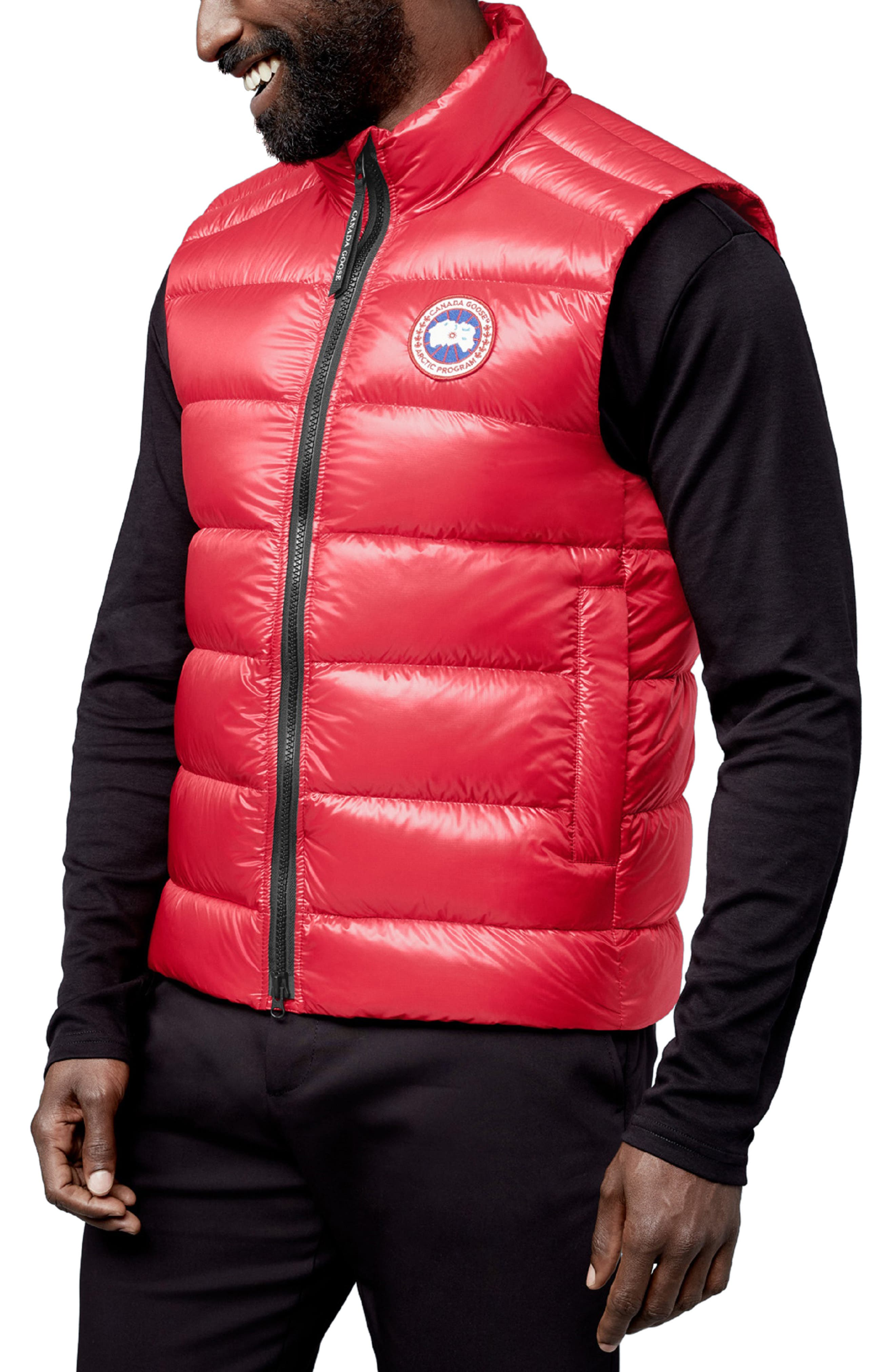 Men's Canada Goose Crofton Water Resistant Packable Quilted 750-Fill-Power Down Vest