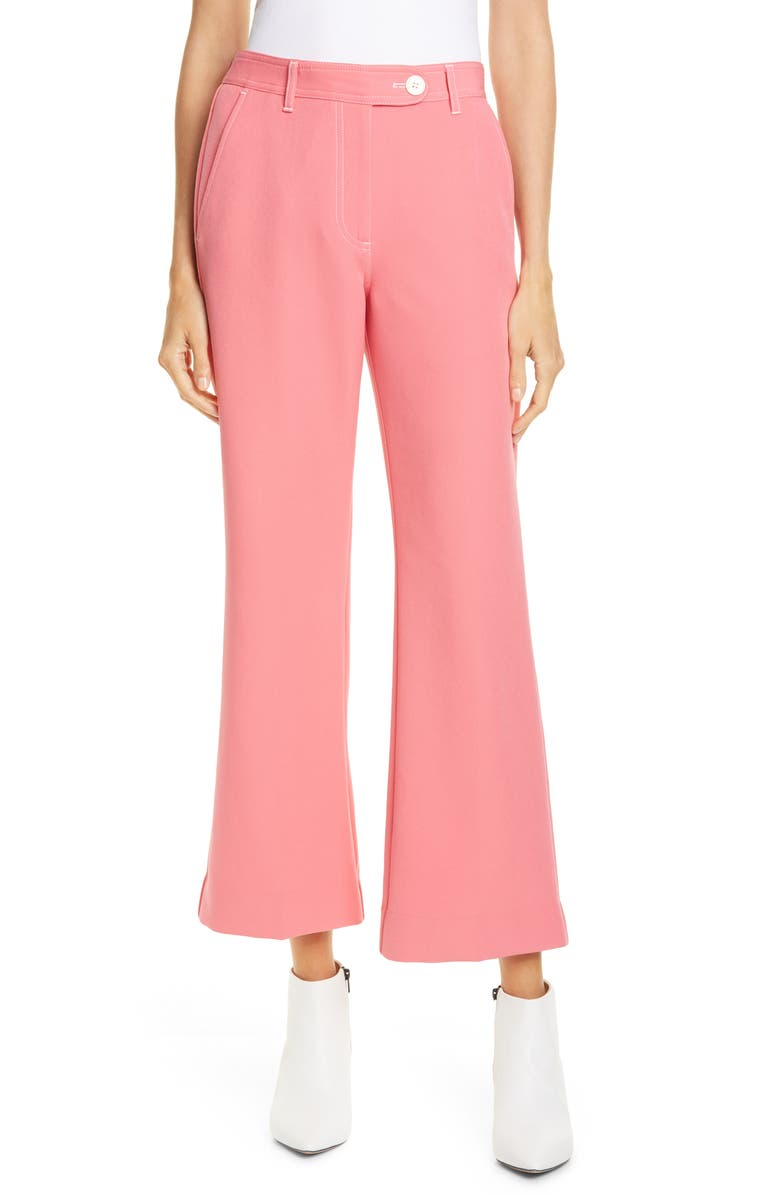 STINE GOYA Bob Crop Flare Pants, Main, color, ROSE