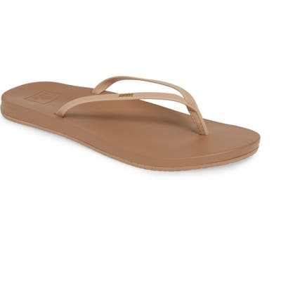 Reef Cushion Bounce Slim Flip Flop, Beige