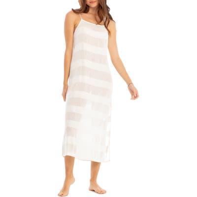 Tavik Gadot Tonal Stripe Cover-Up Dress, White