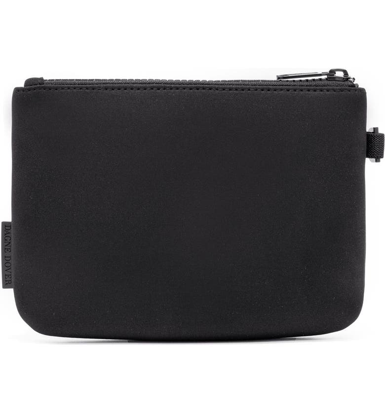 DAGNE DOVER Scout Small Zip Top Pouch, Main, color, ONYX