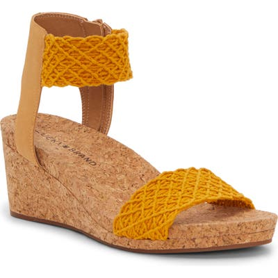 Lucky Brand Kierony Wedge Sandal- Yellow